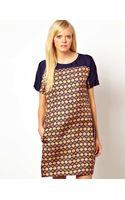 Baum Und Pferdgarten Silk Shift Dress in Tile Print - Lyst