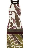 Giambattista Valli Printed Cotton-blend Jacquard and Silk Dress - Lyst