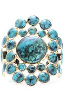 Isharya Goldplated Cuff with Turquoise - Lyst