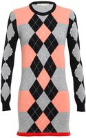 Balenciaga Woolcashmere Argyle Knit Dress - Lyst