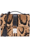 Giorgio Armani Leopard Print Shoulder Bag - Lyst