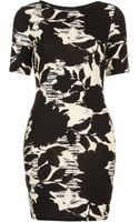 Topshop Floral Print T-shirt Dress - Lyst