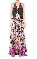 Amen Printed Silk Dress - Lyst