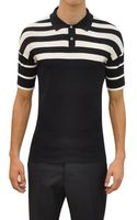 Jil Sander Striped Cotton Polo Shirt - Lyst