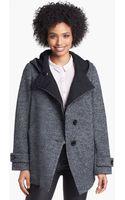 Kristen Blake Asymmetrical Hooded Wool Blend Coat - Lyst