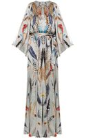 Temperley London Long Feather Print Dress - Lyst