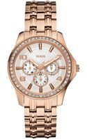 Guess Watch Womens Rose Goldtone Stainless Steel Bracelet 42mm - Lyst