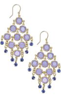 Kate Spade Goldtone Purple Stone Chandelier Earrings - Lyst