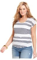 Lucky Brand Shortsleeve Striped Tee - Lyst