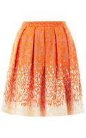 Matthew Williamson Winter Garden Organza Embroidered Pleat Skirt - Lyst