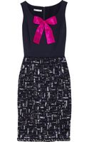 Oscar de la Renta Embellished Faille and Tweed Dress - Lyst