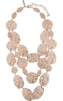 Oscar de la Renta Rose Goldplated Hammereddisc Necklace - Lyst