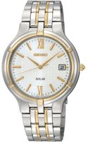 Seiko Mens Solar Two Tone Bracelet 37mm Sne066 - Lyst