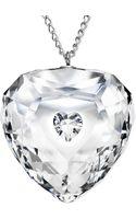 Swarovski Rhodium-plated Crystal Truthful Heart Pendant Necklace - Lyst