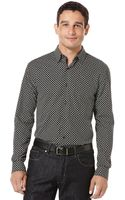Perry Ellis Long Sleeve Circle Print Shirt - Lyst