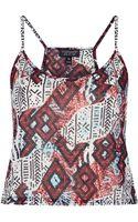 Topshop Aztec Print Crop Cami - Lyst