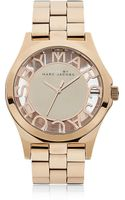Marc By Marc Jacobs Henry Skeleton Rose Gold Watch - Lyst