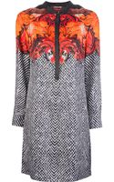 Roberto Cavalli Printed Shift Dress - Lyst