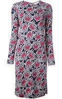 Tory Burch Floral Shift Dress - Lyst