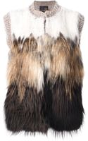 Fendi Furry Gilet - Lyst