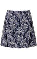 Topshop Tall Navy Jacquard Pelmet Skirt - Lyst
