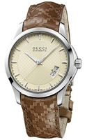 Gucci  Leather Strap Watch with Diamonds - Lyst