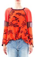 Elizabeth And James Nostrad Floralprint Silk Blouse - Lyst