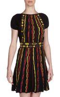 M Missoni Plushsleeve Jacquard Dress Multicolor - Lyst