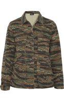 A.P.C. Atelier De Production Et De Création Camouflageprint Cottoncanvas Jacket - Lyst