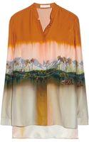 Matthew Williamson Printed Washed Silk Shirt - Lyst
