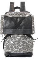 Christopher Raeburn Lace-print Wool Rucksack - Lyst