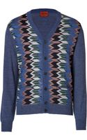Missoni Wool Patterned V-neck Cardigan - Lyst