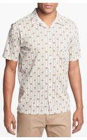 RVCA Wallpaper Short Sleeve Shirt - Lyst