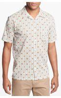 RVCA Wallpaper Short Sleeve Shirt - Lyst