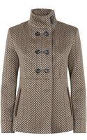 Armani Herringbone Jacket - Lyst