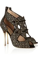 Nicholas Kirkwood Lace-covered Suede Sandals - Lyst