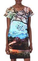 Mary Katrantzou Mary Katrantzou Printed Silk Dress - Lyst