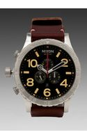Nixon The 5130 Chrono Leather in Brown - Lyst