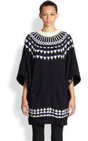 Sacai Woolback Intarsia Knit Sweater - Lyst