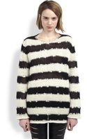 Saint Laurent Oversized Striped Sweater - Lyst