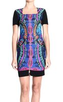 Versace Jeans Dress Short Sleeve Jersey Print with Zip - Lyst