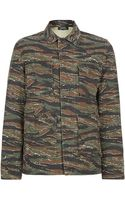 A.P.C. Army Print Jacket - Lyst