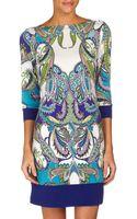 Donna Morgan Paisley Print Shift Dress  - Lyst