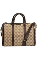 Gucci Vintage Web Large Trunk Bag GG - Lyst