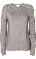 Helmut Lang Textural Knit Pullover in Slate - Lyst