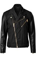 Marc Jacobs Cottonleather Jacket - Lyst