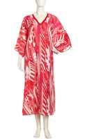 Natori Beaded Ikat Caftan Pinkcoral Small - Lyst
