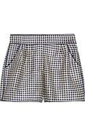 Oscar de la Renta Printed Silktwill Shorts - Lyst