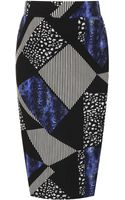 Topshop Animal Mix Maternity Tube Skirt - Lyst
