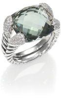 David Yurman Prasiolite Diamond Sterling Silver Ring - Lyst